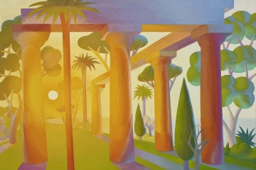 Salvo, Alba, 1989, olio su tela, 200 x 250 cm