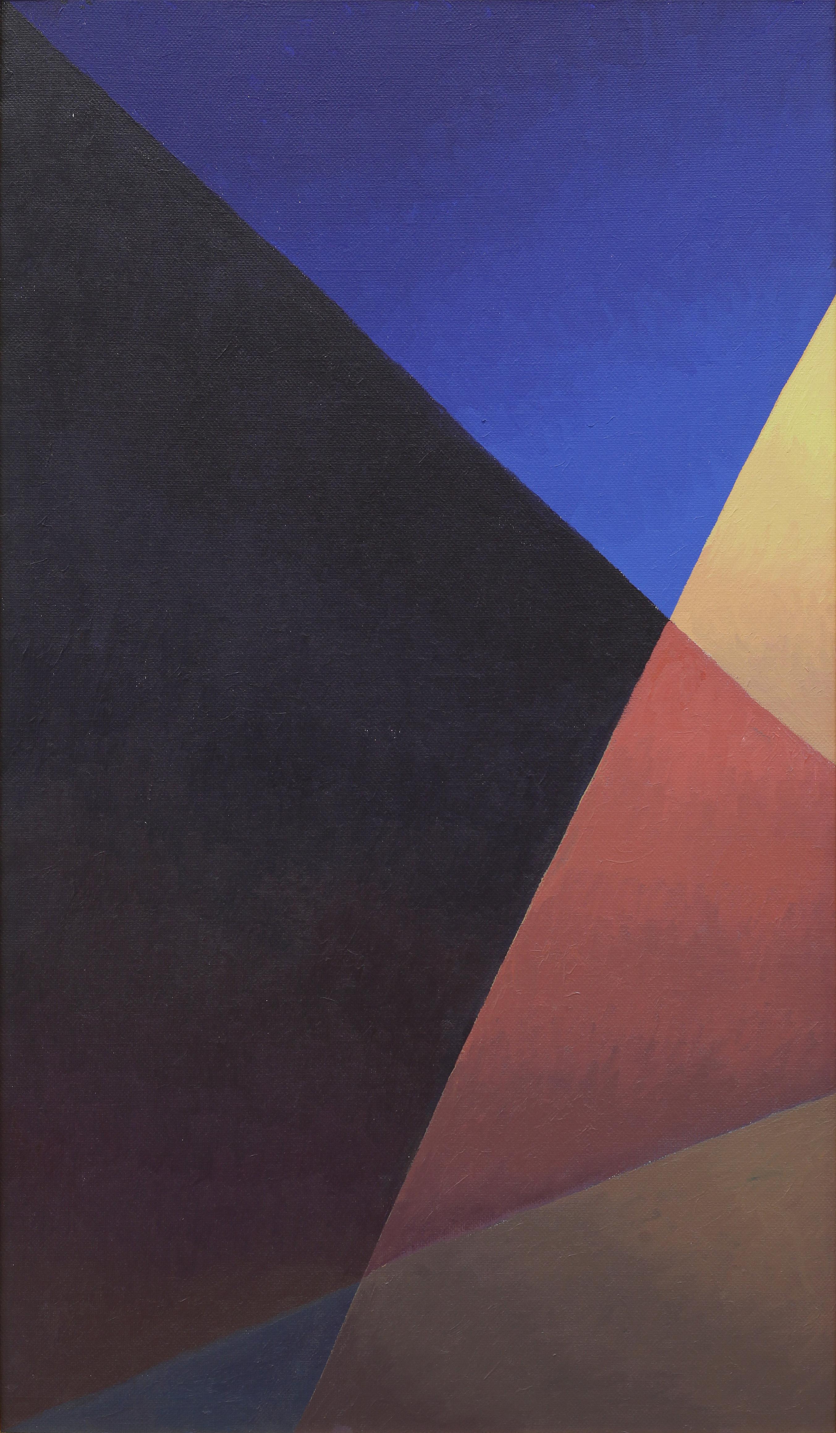 Salvo, Notte strada lampione, 1986, olio su tela, 120x70 cm