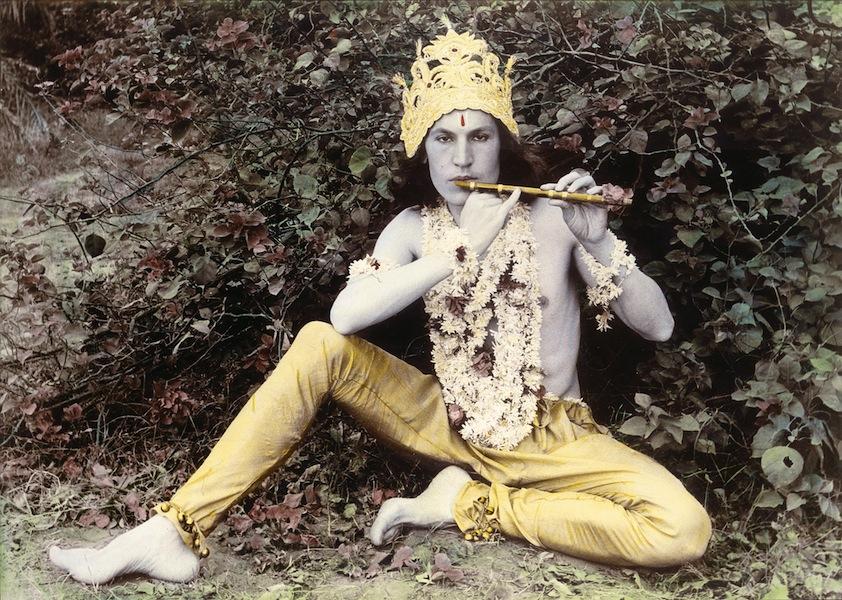 Luigi Ontani, Krishna, 1978, fotografia acquerellata, Collezione Fabio Sargentini, Roma