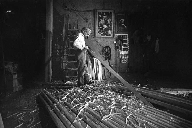 Tito Amodei nel suo studio (foto di Stefano Fontebasso de Martino)