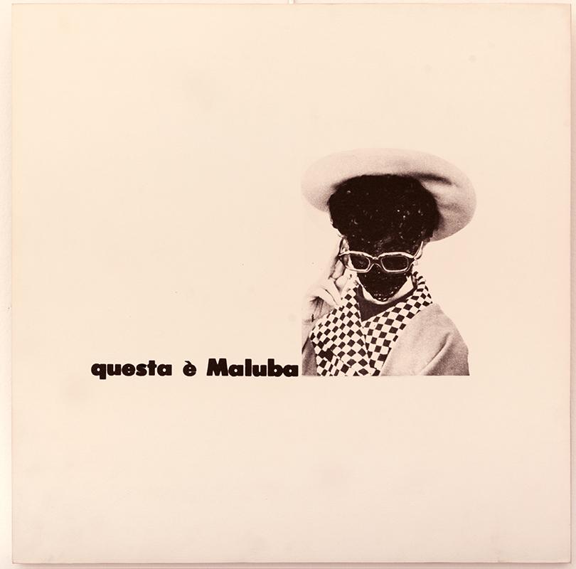 Emilio Isgrò, Maluba, 1966. Acrilico su tela, cm 40x40. Courtesy: Studio Guastalla Arte Moderna e Contemporanea