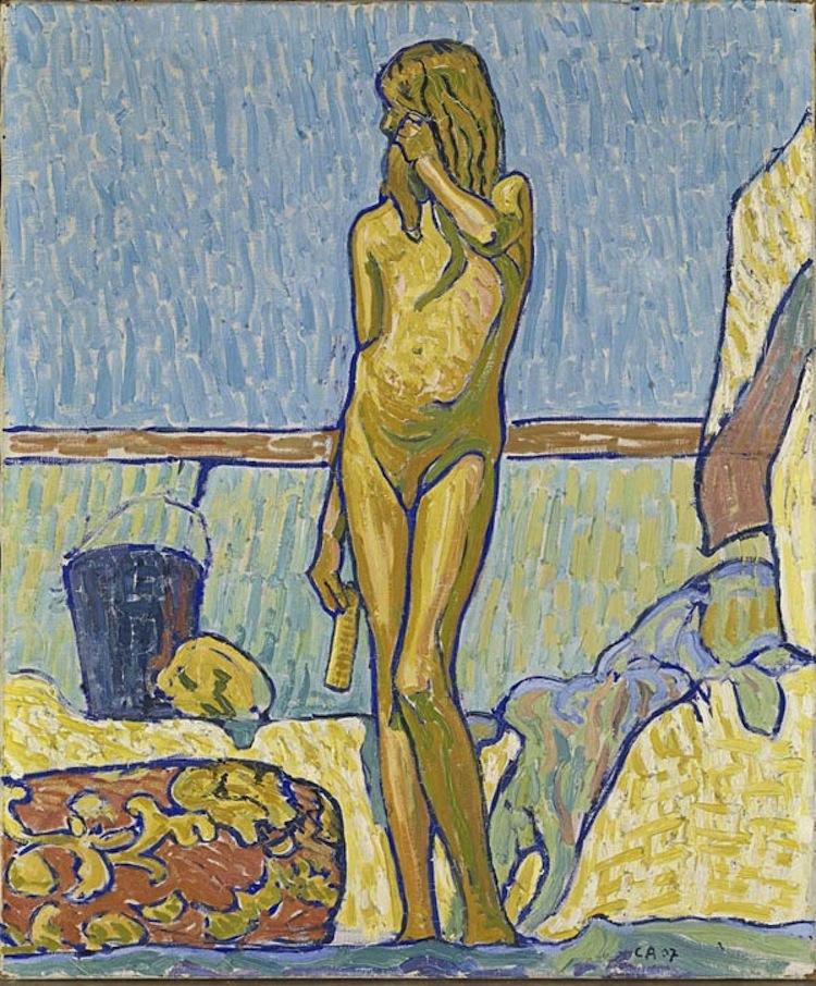 Cuno Amiet, La ragazza gialla (Lydia), 1907, olio su tela, 64.5 x 54 cm, Kunstmuseum Olten © M.+D. Thalmann, Herzogenbuchsee Photo SIK-ISEA, Zurigo (Philipp Hitz)