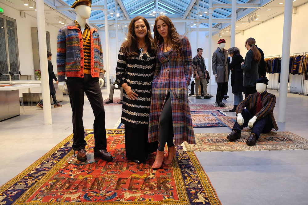 Showroom Missoni, Angela Missoni e Loredana Longo, carpets Loredana Longo, courtesy Francesco Pantaleone, Milano