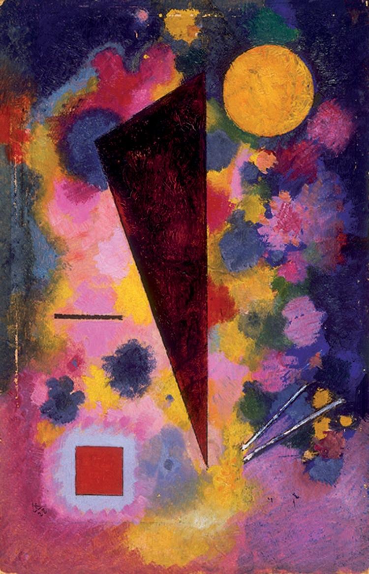 Wassily Kandinsky, Bunter Mitklang (Résonance multicolore), 1928, olio su cartone, 32.9x21.3 cm, Parigi, Centre Pompidou - Musée national d'art moderne - Centre de création industrielle © Centre Pompidou, MNAM-CCI, Dist. RMN-Grand Palais /Droits réservés