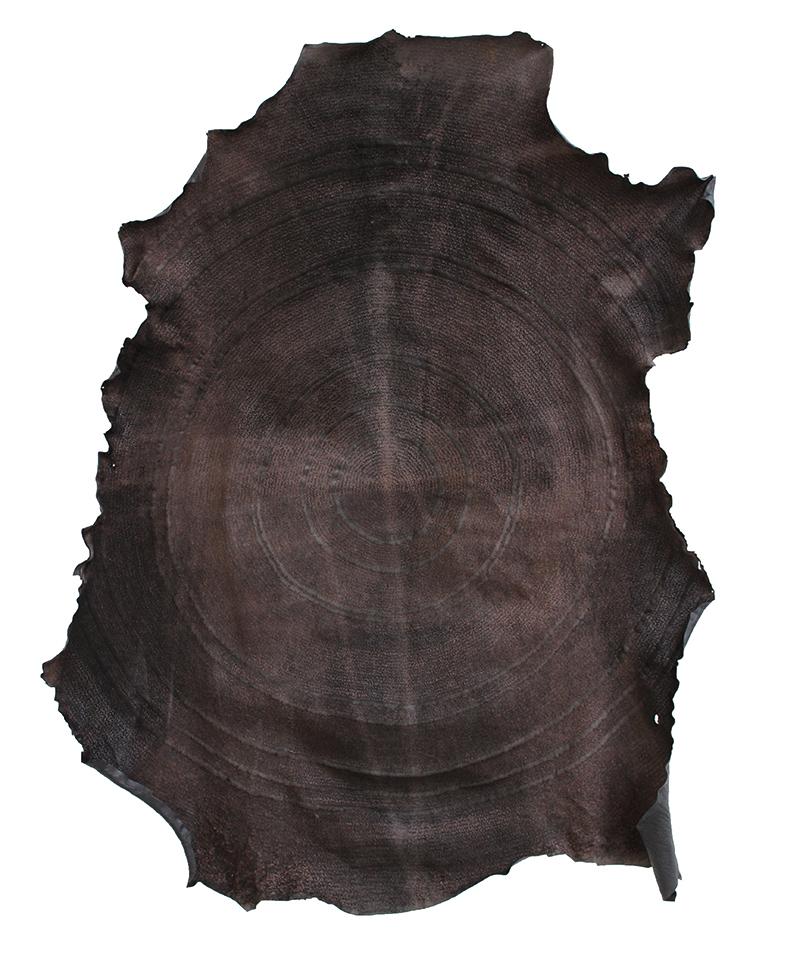 Carolina Corno, Nel nome, 2017, incisione a fuoco su pelle, cm 101x83
