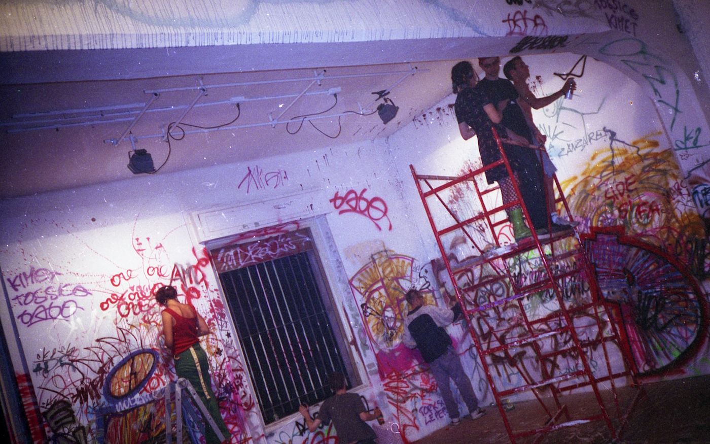 Bombing Party la città ideale, Careof, Cusano Milanino_MI, 1993. Foto: Cuoghi Corsello