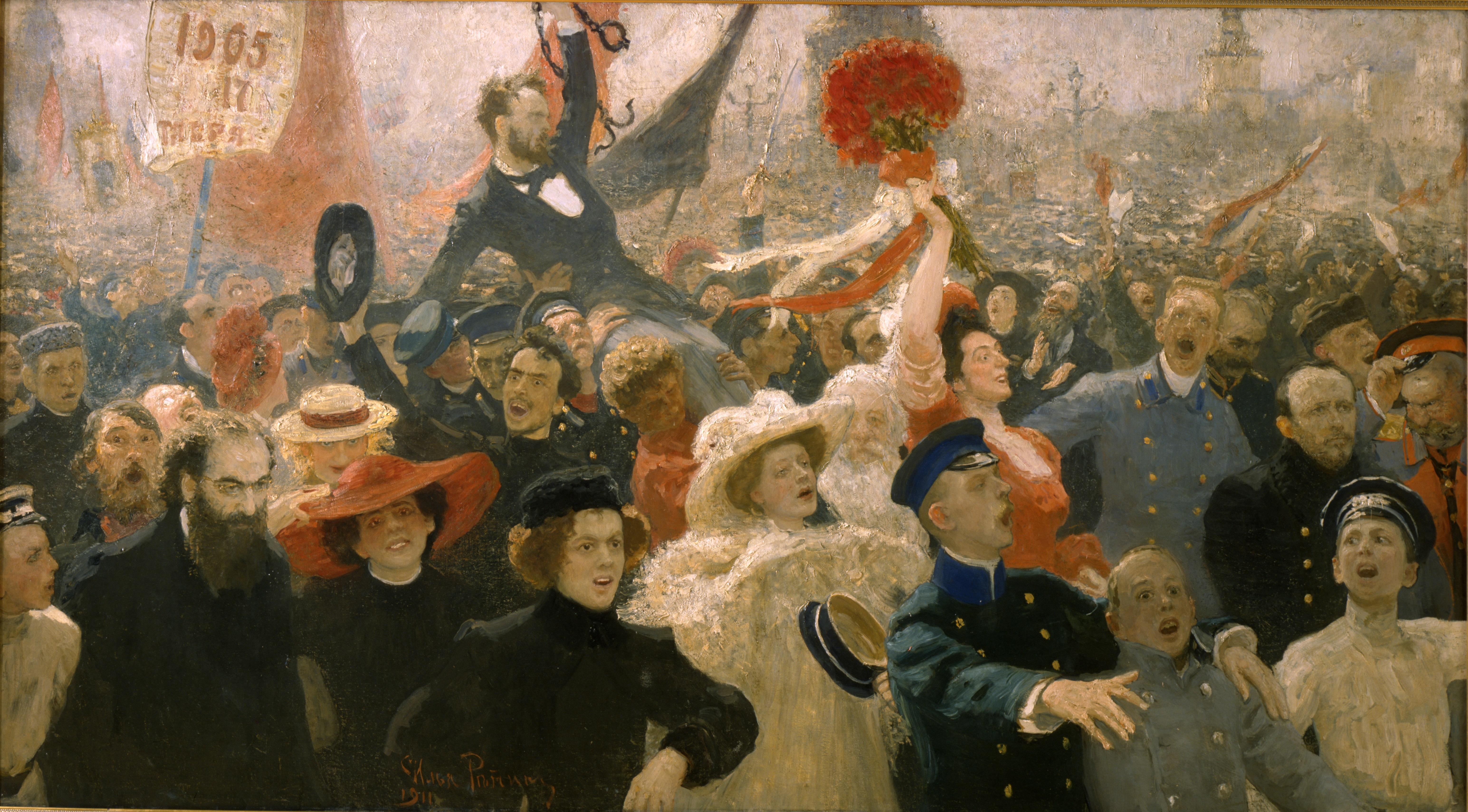 Il'ja Repin, 17 ottobre 1905, olio su tela, 1910 © State Russian Museum, St. Petersburg