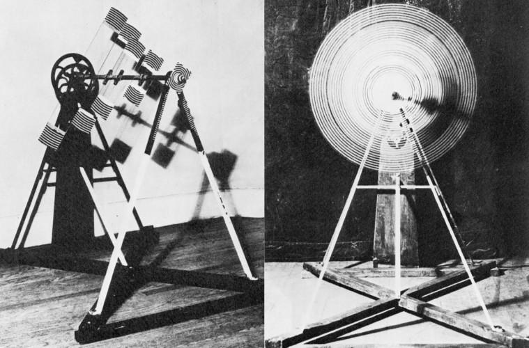 Marcel Duchamp, Rotatives plaques de verre (statiche e in movimento), 1920