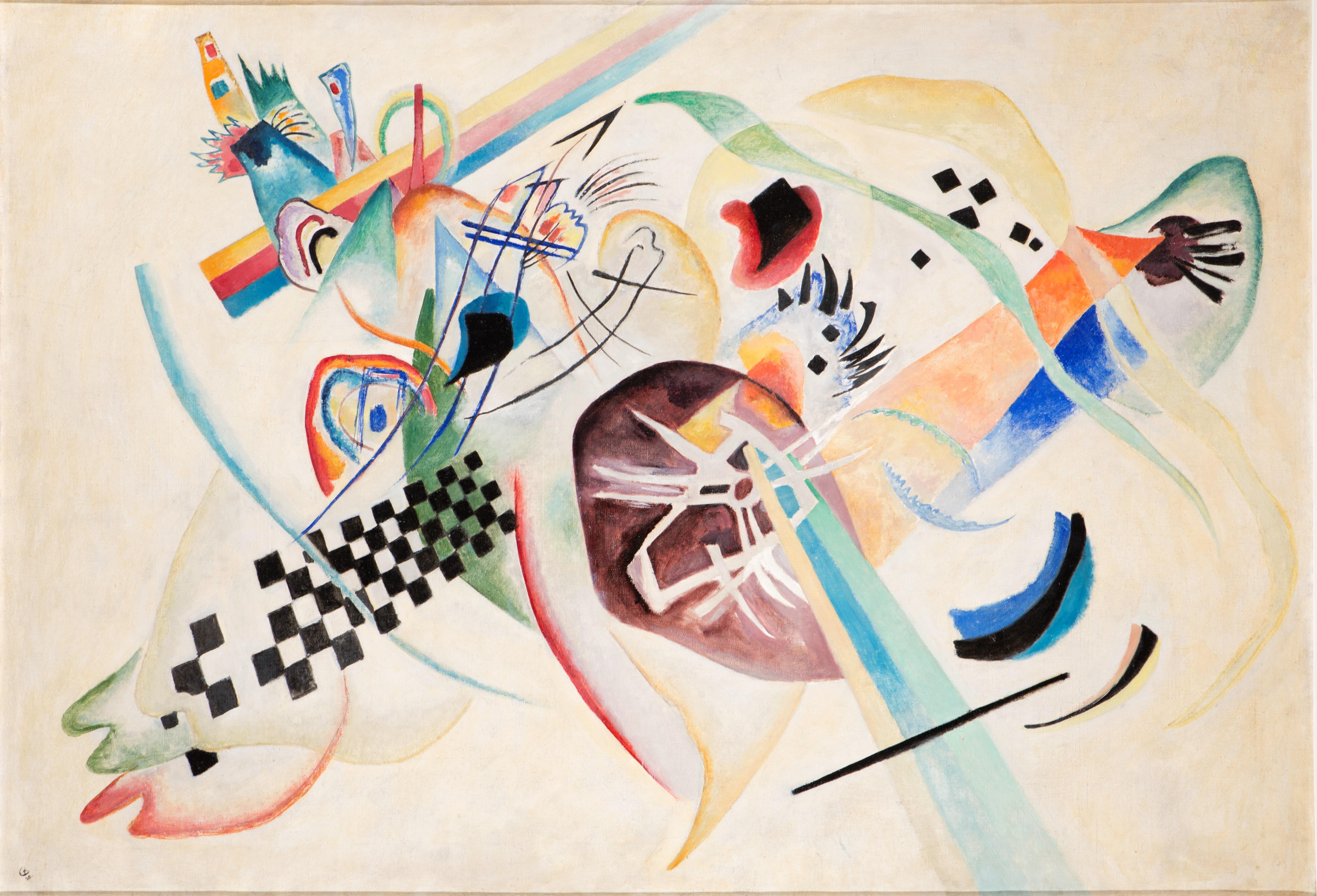 Kandinsky, Su bianco (I) © State Russian Museum, St. Petersburg