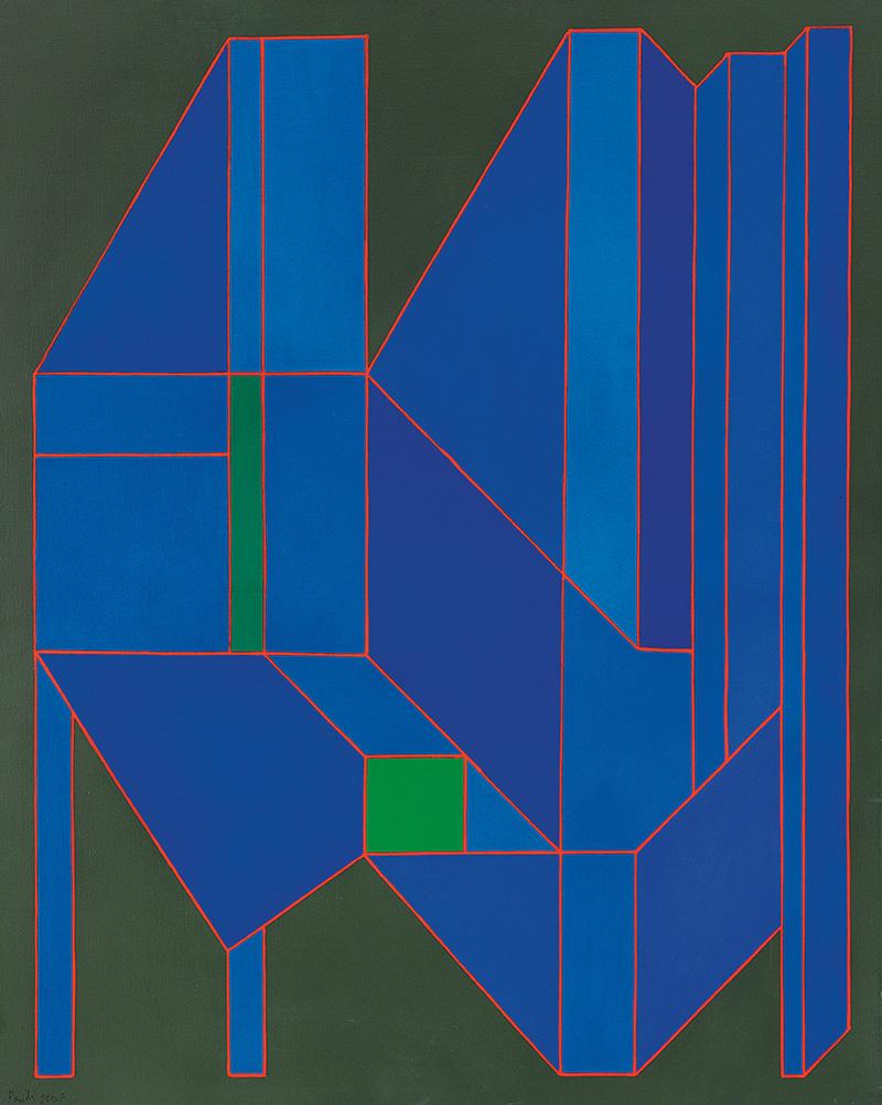 Achille Perilli, L'Abisso Allegro, 2007, tecnica mista su tela, cm 100x81