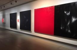 Omar Galliani. Intorno a Caravaggio, veduta della mostra, Gallerie d'Italia – Piazza Scala, Milano