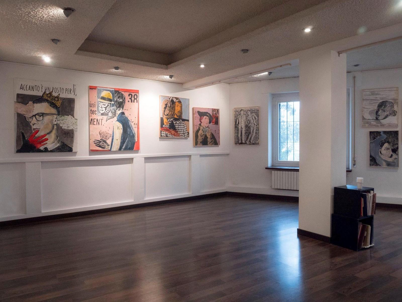 Veduta della mostra Andrea Saltini