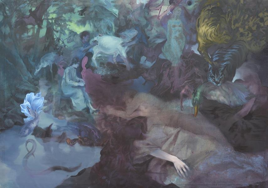 Barbara De Vivi, Notturno, 2017, olio su tela, 140x200 cm, Galleria Marcolini (opera vincitrice)
