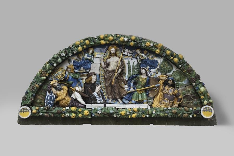 Giovanni Della Robbia (Firenze 1469 - 1529/1530), Resurrezione di Cristo, 1520-25 circa, terracotta invetriata, New York, Brooklyn Museum