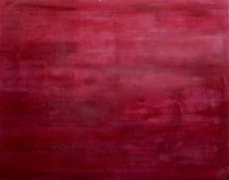 Gianluca Patti, Red Frequencies 3, 2017, acrilico, rete da intonaco e resina su tela, 80x100 cm (dalla serie Frequencies)