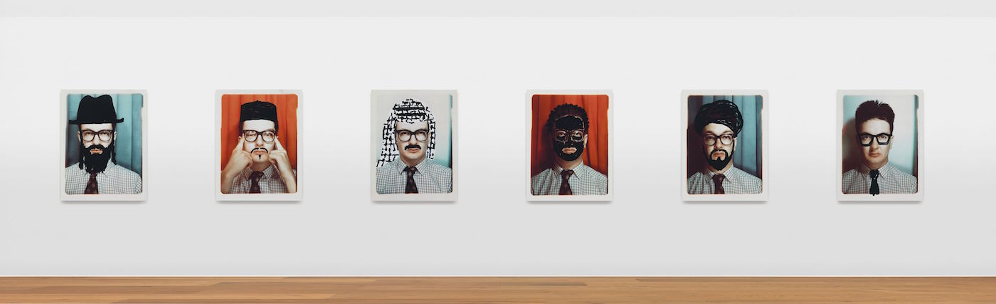 Mark Wallinger , Passport Control, 19886 C-prints mounted on aluminium, 132 x 101.6 cm / 52 x 40 inches each, 6 partsPhoto: © Alex DelfanneCourtesy the artist and Hauser & Wirth