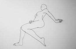 Matthew Attard, Untitled (You are a Poser!), 2014, Filo di alluminio e muro, 200x180 cm circa, Galleria Michela Rizzo (opera vincitice)