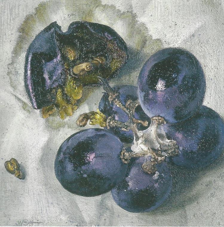 Wolfango, L'uva con la tela di ragno, 1996, acrilico su tela Courtesy Galleria Maurizio Nobile, Bologna