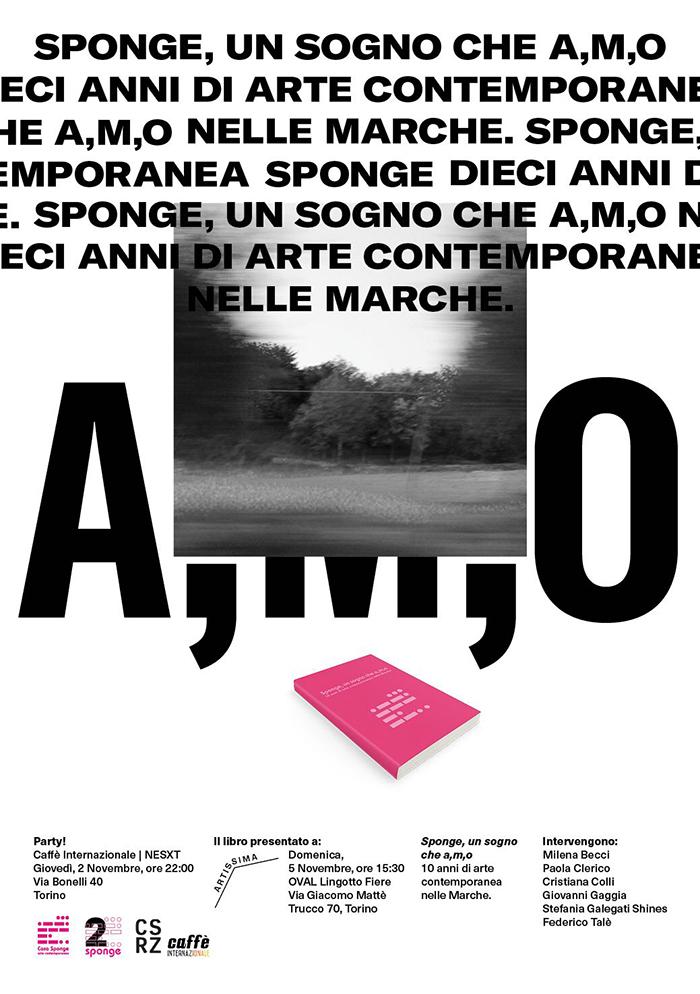 Il manifesto per la presentazione del libro ad Artissima