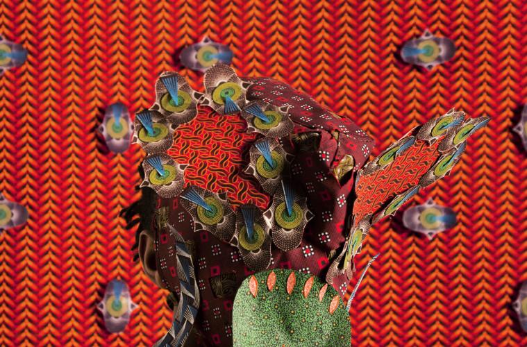 Siwa Mgoboza. Les Etres D'Africadia (Masquer) I. 59.4 x 42 cm. Ed of 5. + 3AP