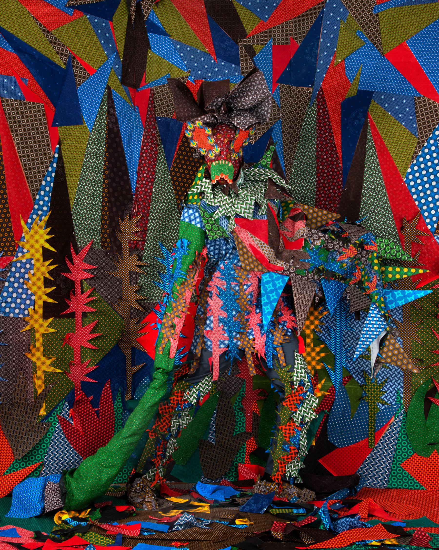 Siwa Mgoboza. Les Etres D'Africadia II Fruzsina Porcupina. Photographic Print. 59.4 x 42 & 180 x 144 cm. Ed of 10 + 3AP