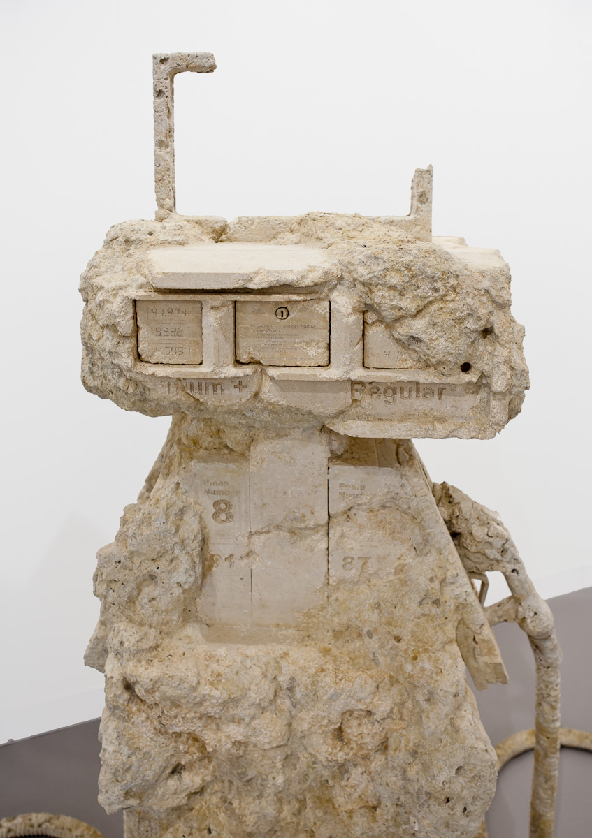 Petrified Petrol Pump, 2012 Limestone, installed dimensions variable. Copyright Allora & Calzadilla Courtesy Gladstone Gallery, New York and Brussels