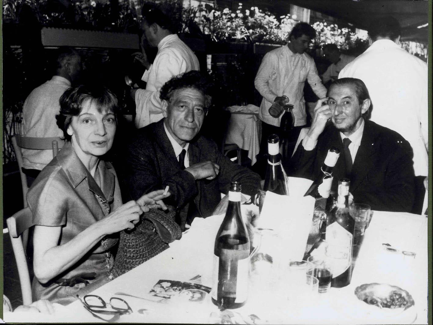 Bice Lazzari a Venezia con Giacometti e Carlo Scarpa