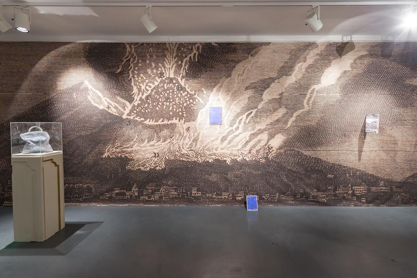 """Lapo Simeoni, """"25.000"""", """"Mare Nostrum"""", veduta della mostra, Intragallery, Napoli"""