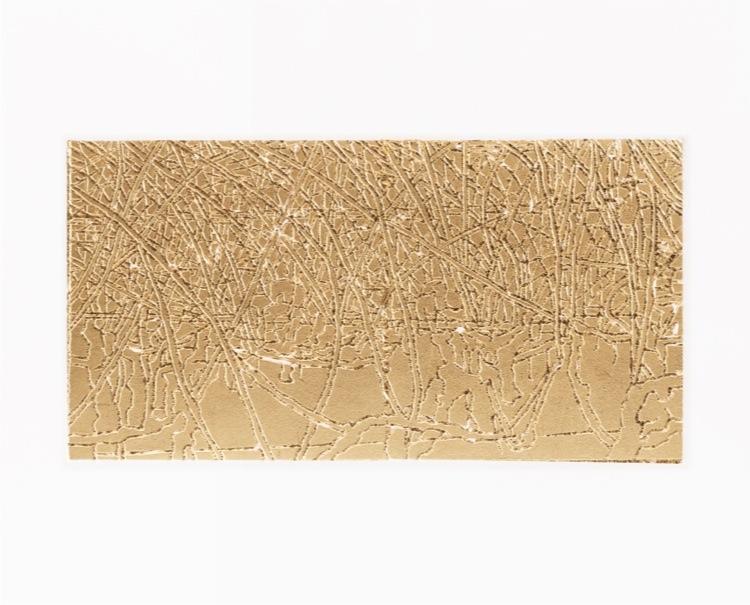 Elisabeth Scherffig, F.F., 2011, stampa su carta e foglia oro, 29.5x36.5 cm
