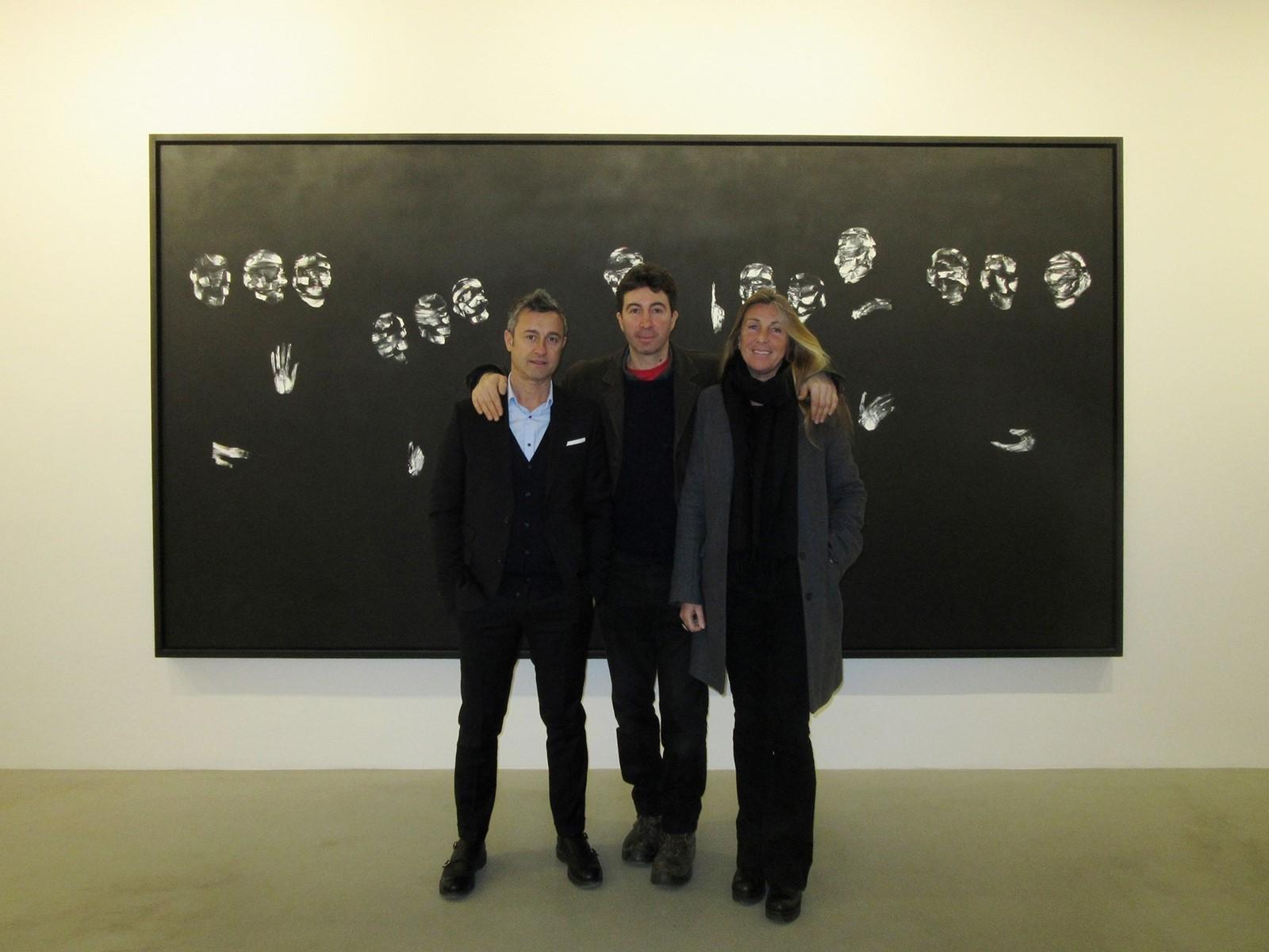 Alessandro Luppi, Lorenzo Puglisi, Martina Cavallarin all'inaugurazione della mostra