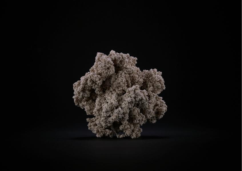 Jens Risch, Silk piece VI, 2015-2017, 1000 mt of white silk, cm 7.5x8x7 © Jens Risch Courtesy Viasaterna - Bischoff Projects Photo by Joerg Baumann