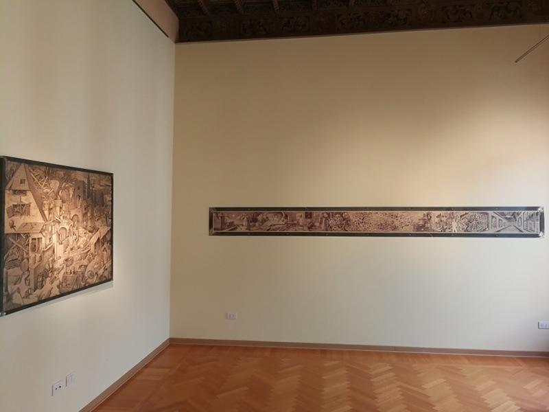 Marcello Carrà. Accelerazioni dello spirito, veduta della mostra (seconda sala), MLB Maria Livia Brunelli, Ferrara