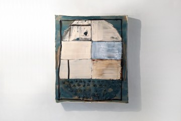 Mirco Marchelli, Bella Cera, 2018, ceramica dipinta e smaltata, 42x44x5 cm Courtesy MARCOROSSI arte contemporanea