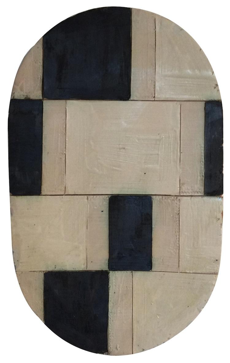 Mirco Marchelli, Bella cera, 2017, ceramica dipinta e smaltata, 64x40x12 cm Courtesy MARCOROSSI arte contemporanea