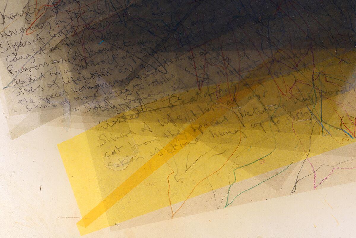 David Leverett Interspaces in sequence dettaglio / detail 1973 acrilico su fibra di vetro e carta / acrylic on glass fiber and paper 91 x 122 cm foto / photo Michele Alberto Sereni