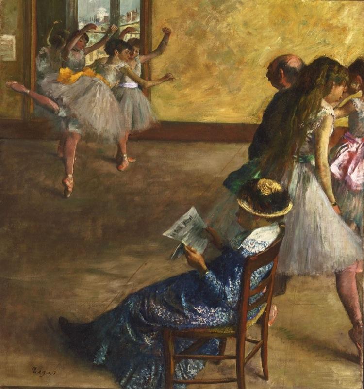 Edgar Degas, La classe di danza, 1880 circa, olio su tela, 82.2x76.8 cm, Philadelphia Museum of Art, Acquistato con il W. P. Wilstach Fund, 1937