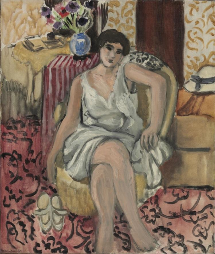 Henri Matisse, Donna seduta in poltrona, 1920, olio su tela, 46.4x39.4 cm, Philadelphia Museum of Art, Collezione Louis E. Stern, 1963