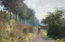 Claude Monet, Il sentiero riparato, 1873, olio su tela, 54.1x65.7 cm, Philadelphia Museum of Art, Donazione di Mr. and Mrs. Hughs Norment in onore di William H. Donner, 1972
