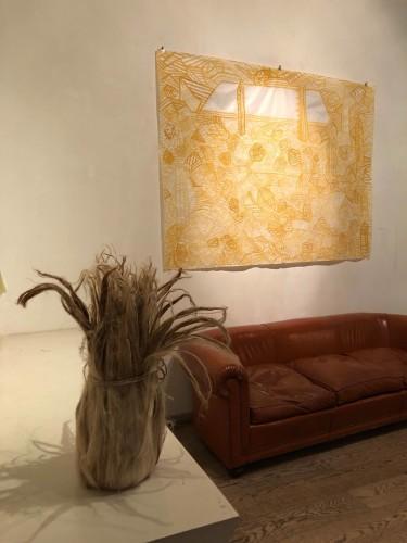 Veduta della mostra Giuseppe Capitano, Earth's Hearth, Galleria Edieuropa