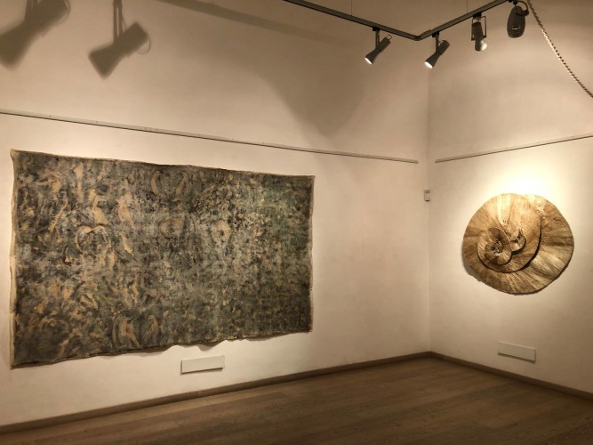 Veduta della mostra Giuseppe Capitano, Earth Heart's