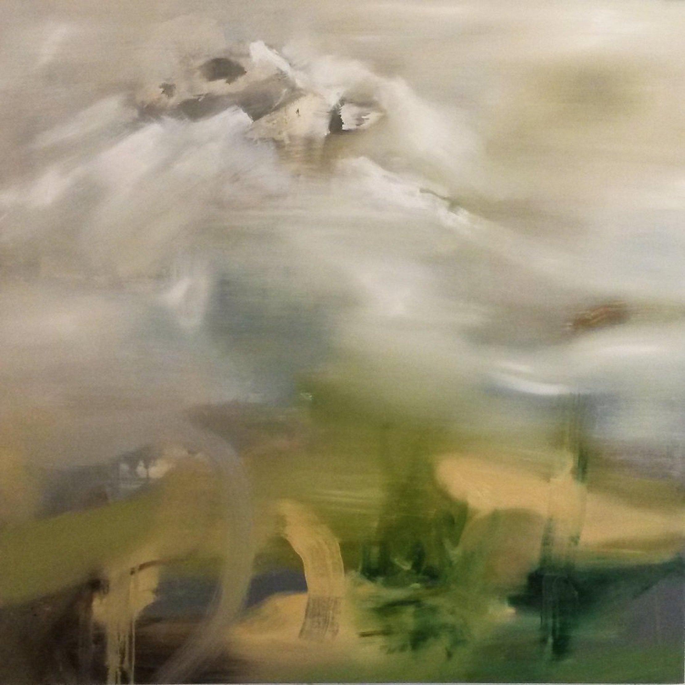 Angelo Bellobono, Migrant, 2017, olio e acrilico su tela, 150x150 cm