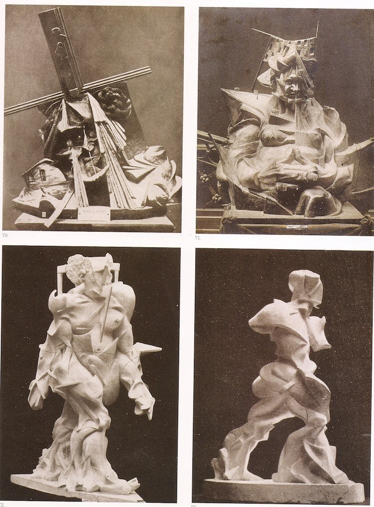 Umberto Boccioni, alcune sculture distrutte