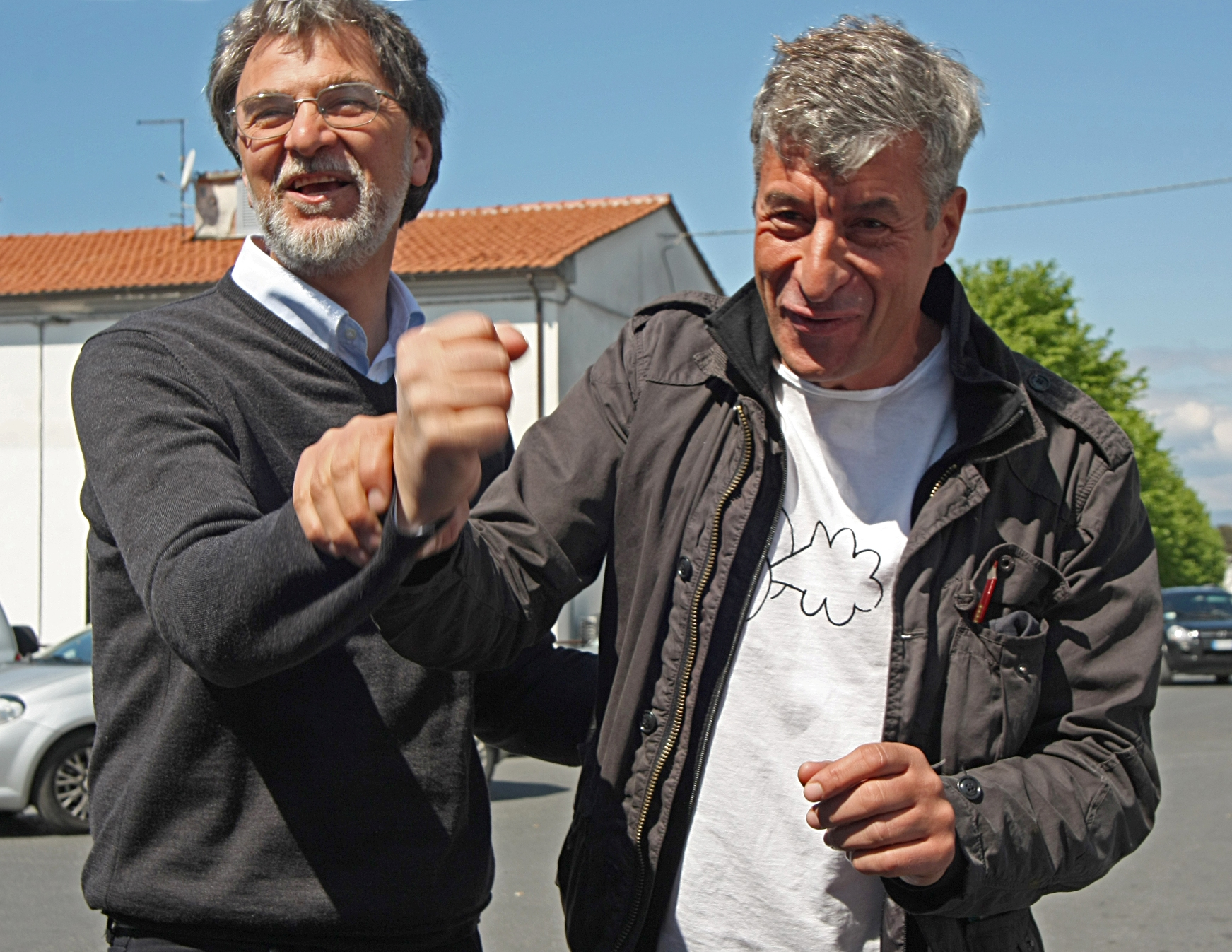 Luciano Massari e Maurizio Cattelan