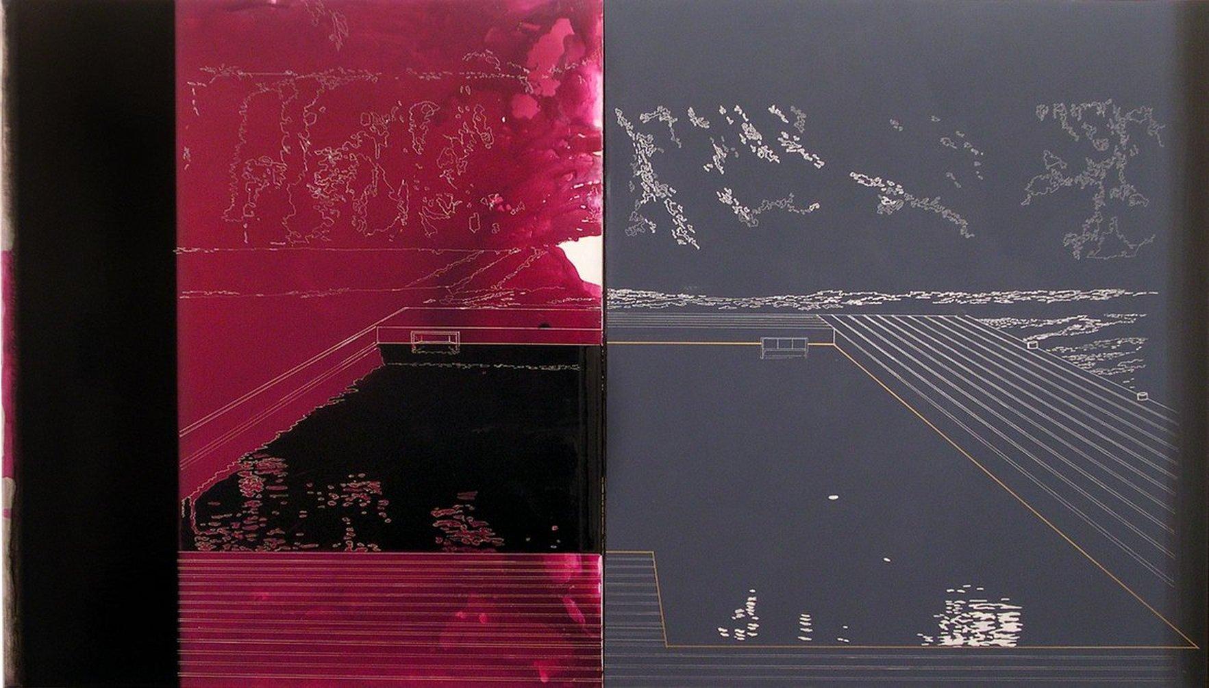 Gioacchino Pontrelli, Senza Titolo, 2003, tecnica mista su tela, cm 200x400
