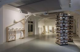 CERAMIC UNIVERSE, a project by Nero/Alessandro Neretti for GRUPPO ROMANI at Fuorisalone 2018 exhibition view: PLANET EARTH, 2018 courtesy of the artist and Gruppo Romani. CASABELLA laboratorio. Foto: Andrea Piffari CASABELLA laboratorio