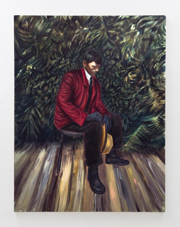 Luca De Angelis, Senza Titolo, 2016, olio su lino, 160x120 cm