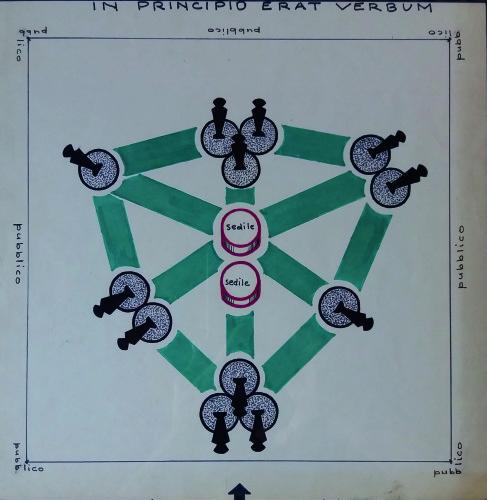 In principio erat verbum, progetto e istruzioni per il gioco-performance, c. 1970-72 Foto: © Marco Caselli Nirmal