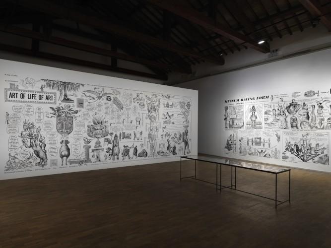Ad Reinhardt, Arte + Satira, 2018, Galleria Civica di Modena. Foto: Dario Lasagni