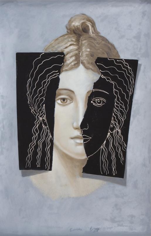 Clara Brasca, EURIDICE, 2018, tecnica mista su carta, cm 140x100