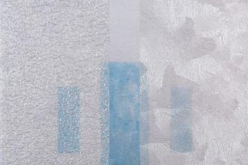Marcello De Angelis, Evanescente, 2017, acrilico injection painting su tela, 25x30 cm
